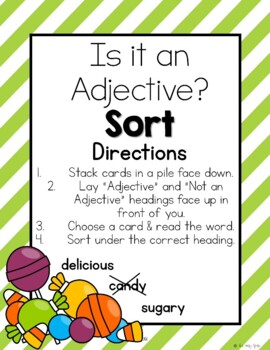 *Free* Adjectives Mini-pack