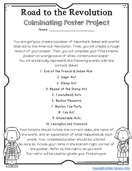 {Free} American Revolution Poster Project