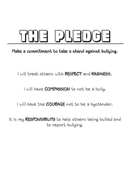 *Free* Anti-Bullying Class Pledge