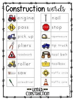 ~Free~ Construction Vocabulary