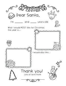 [Free!] Dear Santa Letter