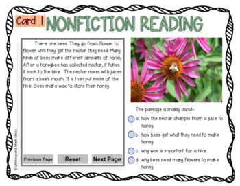 (Free) Digital Nonfiction Task Cards