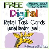 (Free) Digital Task Cards Retell App (Guided Reading Level
