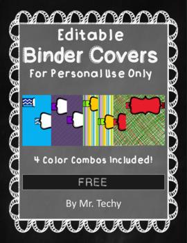 *Free* EDITABLE Binder Covers
