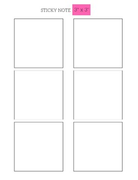 **Free EDITABLE Post-It/Sticky Note Template