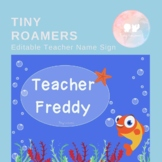 **Free** Editable Palfish Teacher Name Sign!