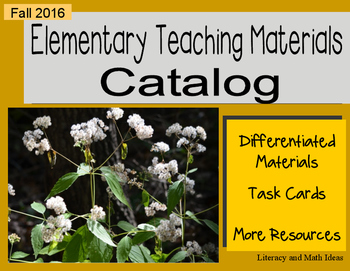 (Free) Fall 2016 Elementary Catalog of Teaching Resources