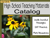 (Free) Fall 2016 High School Catalog of Teaching Resources