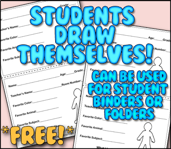 *Free* First Day Info Cards | Students Draw What They Look Like!