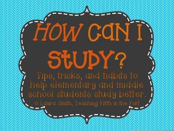 """{Free!} """"How Can I Study?"""" Tips for Teaching How to Study"""