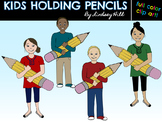 {Free} Kids Holding Pencils Clip Art
