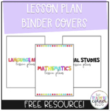 *Free* Editable Lesson Plan Binder Covers