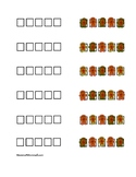 *Free!* Mini Gingerbread Erasers Pattern Matching