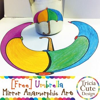 [Free] Mirror Anamorphic Art Coloring Sheet – Optical Illusion