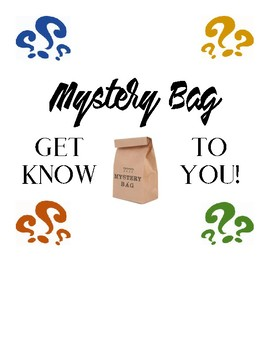 *Free* Mystery Bag Get to Know You Activity