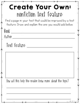 **Free** Nonfiction Text Features Graphic Organizers