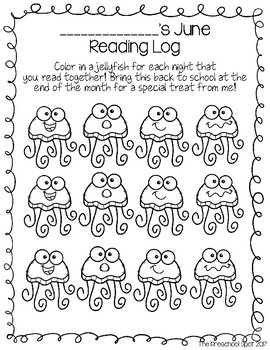 {Free Preview Set} Monthly Preschool Reading Logs - For Pre-Readers