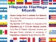 *Free*Spanish Heritage Month «Mes de la Herencia Hispana» posters