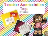 {Free} Teacher Appreciation Tags