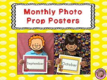 {Free} Monthly Photo Prop Posters