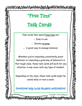 """""""Free Time"""" Task Cards"""