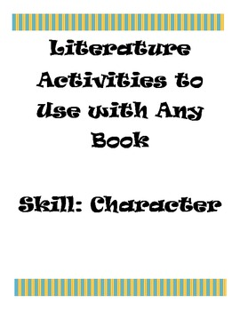 ** Free**  Two Character Activites To Use With Any Book