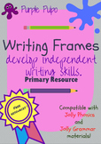 ´Free Writing´ frames to develop independent writing skills.