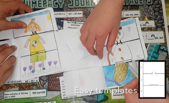 * Free flip book art activity - Great for writing prompts or character creation