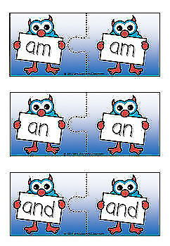 1 - 100 Oxford Sight Words / High Frequency Words Puzzles - Monster Theme