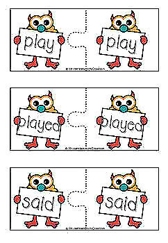 Sight Words Puzzles - Monster Theme