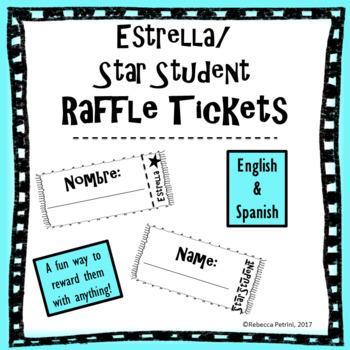 Raffle Tickets - Star Student Raffle - English and Spanish
