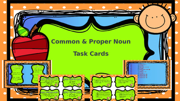 Common & Proper Noun Task Cards