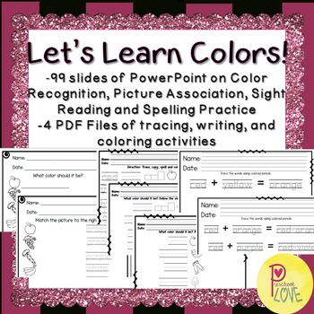 Colors Worksheet and Powerpoint Bundle