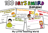 100th Day of School Awards FREE