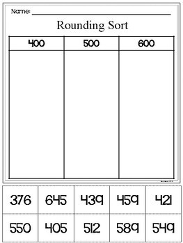 {Freebie} 3-digit Math Cut and Glue Activities