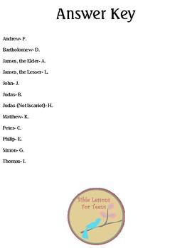 {Freebie} Apostle Facts Worksheet