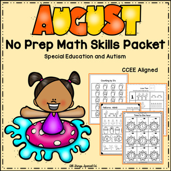 *Freebie* August  Math Skills Packet- Special Education and Autism