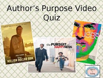 { Freebie: Author's Purpose Video Quiz }