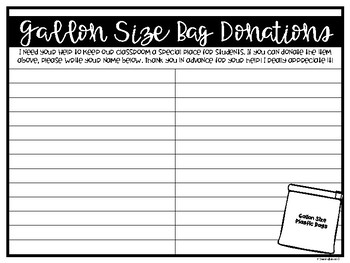 {Freebie} Back to School Classroom Donation Request Printable