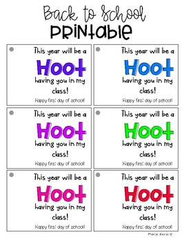 {Freebie} Back to School Crayon Printable Tags