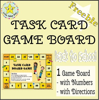 ***Freebie*** Back to School Task Card Game Board