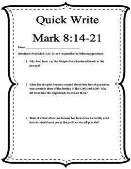 {Freebie} Bible Quick Write