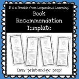 **Freebie**Book Recommendation Bookmarks