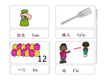 [Freebie] Cantonese Articulation Minimal pairs /ts/ /tsh/ /t/ /th/ affrication