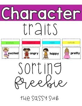 *Freebie* Character Trait Sorting