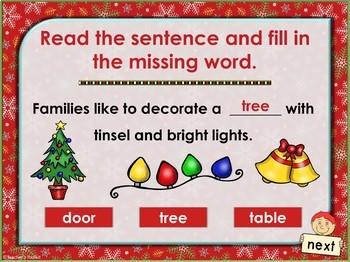 {Freebie} Christmas Cloze Interactive Fun Powerpoint Game