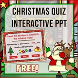 {Freebie} Christmas Cloze Interactive Fun Powerpoint Game