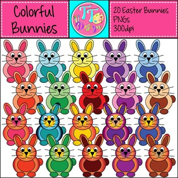 {Freebie} Colorful Bunnies! Clip Art CU OK