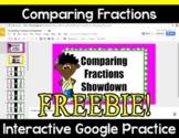 {Freebie} Comparing Fractions Showdown Digital Google Activity