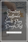 *Freebie* Counting Sunflower Seeds Play Dough Mat
